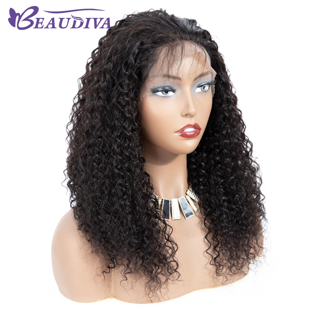 360 Brazilian Human Hair Lace Wigs Bleached knot Beaudiva Pre Plucked Lace Frontal Human Hair Wigs With Baby Hair Kinky Curly-in 360 Lace Wigs from Hair Extensions & Wigs    1