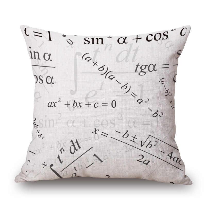 RUBYLOVE Чехлы для подушек с геометрическим рисунком математическая химия формула печати Наволочка декоративная наволочка для дивана сиденья