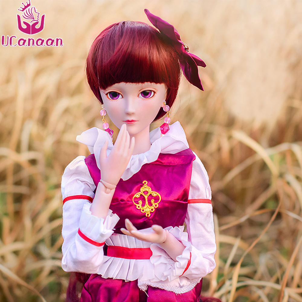 Ucanaan 1/3 BJD/SD Doll Joints Activity Suitable For By Yourself DIY Special Offer With Make Up For Girls Toys Collection uncle 1 3 1 4 1 6 doll accessories for bjd sd bjd eyelashes for doll 1 pair tx 03
