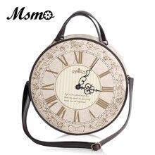 Bolso de diseñador de reloj redondo Vintage, bolso de hombro estilo Lolita japonesa de 3 vías, para chicas, Alice, mochila