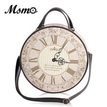 Vintage Yuvarlak Saat tasarımcı çantası Japonya Lolita Tarzı 3 Yollu omuzdan askili çanta Lady Kızlar Alice Çanta sırt çantası