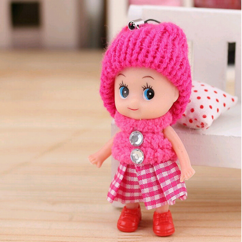 8cm Baby Toys Baby Dolls Interactive Soft Pendant Toys For Girls