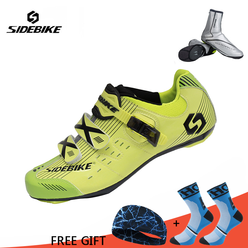 Sidebike Men Women Highway Cycling Shoes Lightweight Road Bike Self-Locking Bicycle Racing Athletic Shoes sapatilha ciclismo inbike road cycling shoes men 2018 carbon fiber road bike shoes self locking bicycle shoe athletic sneakers sapatilha ciclismo