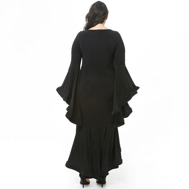 2019 Black Sexy Party Women Dress Big Size Ruffles 4xl 5xl Long Maxi Dress Large Size Bodycon Dress Plus Size vestidos Elegant 2