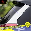 Автомобильный дизайн ABS хром Защита от солнца на заднее стекло авто сбоку крыло  крышка Стикеры для Nissan X-Trail 2014-2016 внешней отделки наклейки и...
