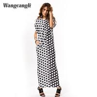 Wangcangli 2017 Hot Style Europe And America Autumn Children S Wear Big Wave Point New Fashionable