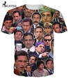 Michael Scott Paparazzi Face T-Shirt Fashion Summer Style T Shirt Character Tee Tops Women Men Funny Harajuku Fashion Camisa XXL