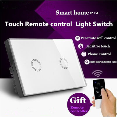US Standard Touch Remote Control Light Switch,2Gang1Way White/Gold Pearl Crystal Glass Wall Switch, With LED Indicator,MG-US01RC сумка abro 027389 37 52