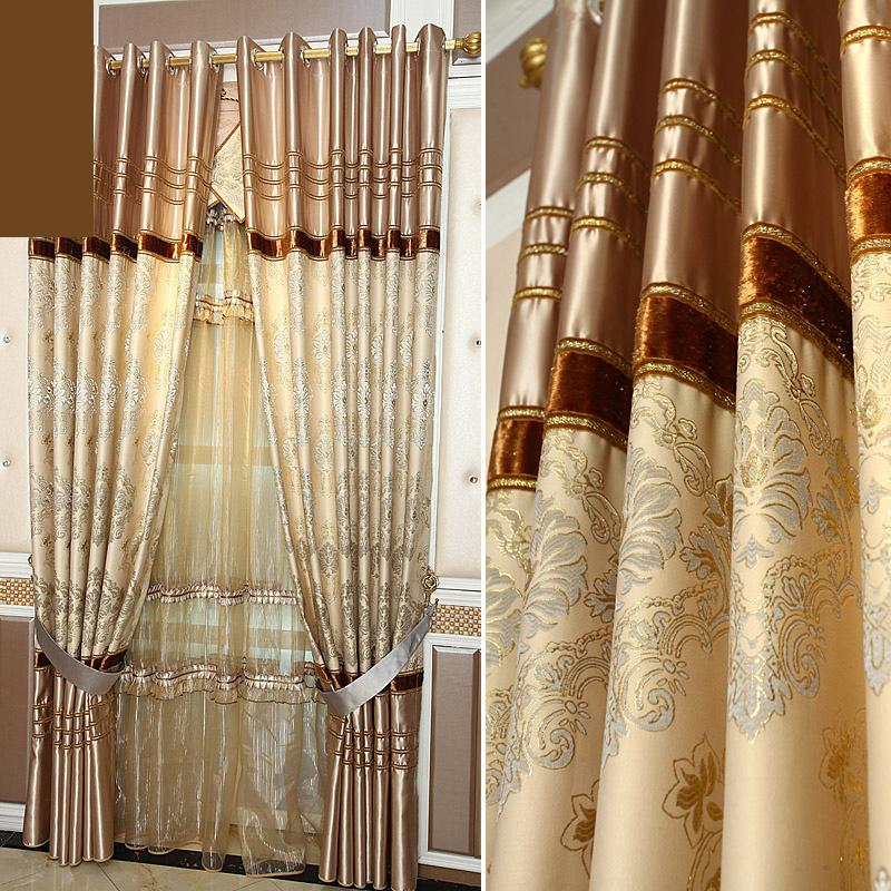 cortina de encargo de lujo de estilo europeo royal modelo empalme diseo cortina cortinas del saln e