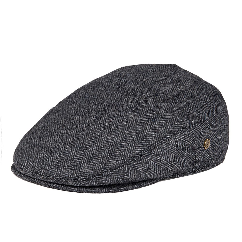 VOBOOM Black Wool Tweed Herringbone Flat Cap Men Newsboy Caps Boina Women Beret Cabbie Driver Hat Golf Hunting Ivy Hats 200