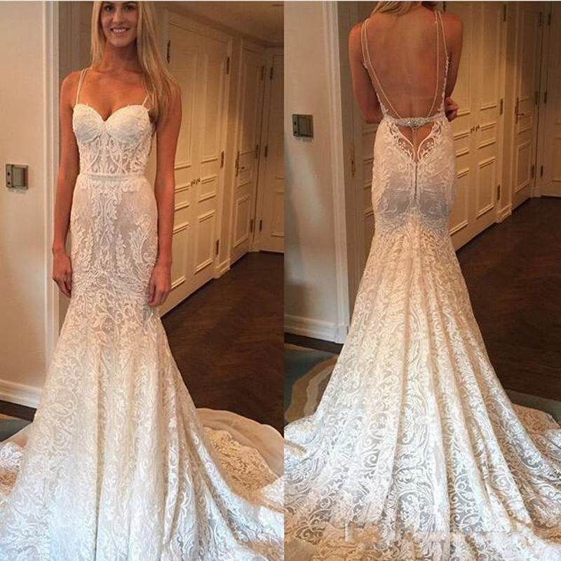 Sexy Designer Berta Bridal Gown Luxury Full Lace Wedding