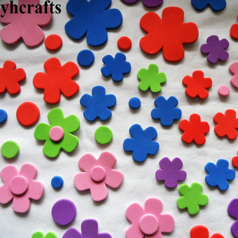 200PCS/LOT.Flower stickers,Kids toy.Scrapbooking kit.Early educational DIY.Cheap.kindergarten craft