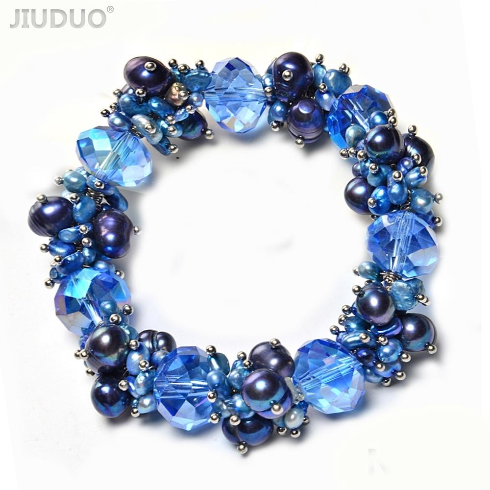2019 Original Bunte Frauen Mode Edelstein Süßwasser Perle Armband Kristall Lebendige Perlen Amethyst Armband