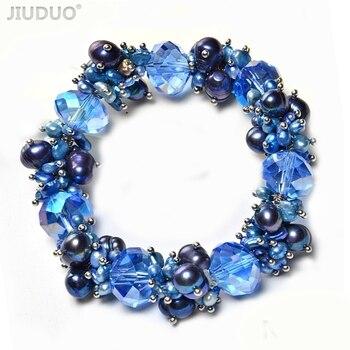 4b0cf46b3930 2019 Original de las mujeres de moda de piedras preciosas de perlas de agua  dulce pulsera de cristal y perlas pulsera de amatista