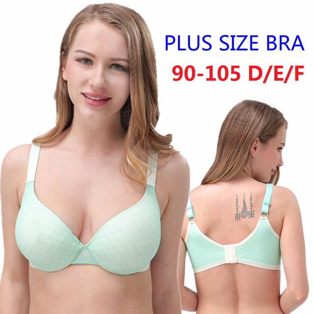 16563f85a2 Women s Full Coverage Underwire Lace Mesh Bonding Seamless Wide Straps Bra  for Big Breasted Women 40 42 44 46 D E F Cup H402