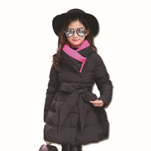 Baby Girl Jacket Autumn Winter Long Jacket Girls Thick Cotton Solid Color Jacket Children's Wear Children's Warm Hooded Coat 2018 autumn and winter boys and girls jacket baby winter thick warm cotton clothes baby hooded quilted jacket