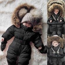 Новинка года; зимние комбинезоны для детей; комбинезон-жакет для маленьких мальчиков и девочек; комбинезон с капюшоном; теплое плотное пальто