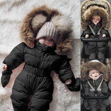 edd4602743227 Winter Infant Baby Boy Girl Romper Jacket Hooded Warm Thick Coat (China)