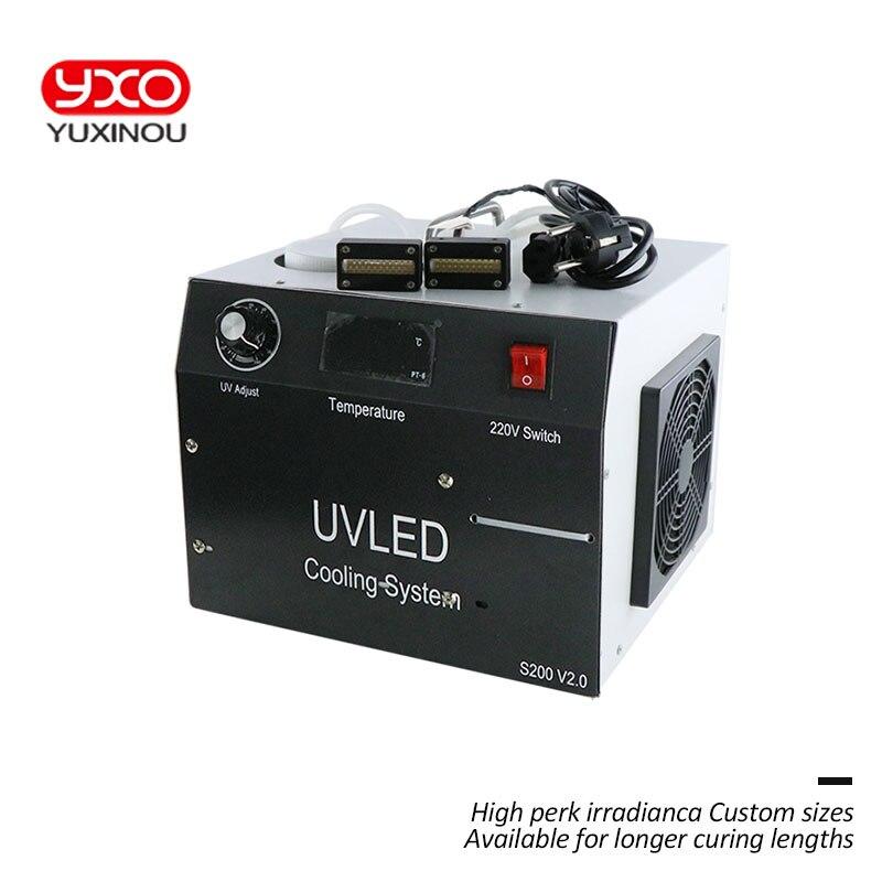 1 шт. 160 Вт 2 головки светодио дный УФ светодио дный отверждения Системы для принтеров Epson DX5 печати УФ-голову УФ планшетный принтер, УФ-отвержд...