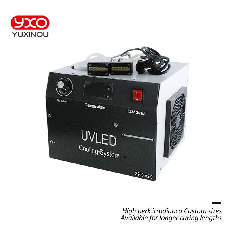 1 piezas 160 w 2 cabeza LED, UV LED sistema de curado para impresora Epson DX5 impresión UV cabeza plana UV impresora pegamento UV curado