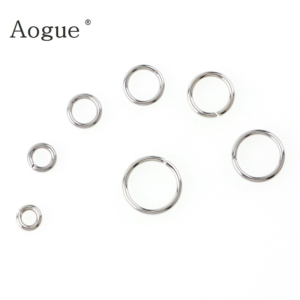 3mm-10mm High Quality Jump Rings Stainless Steel Silver Color  DIY Jewelry Findings