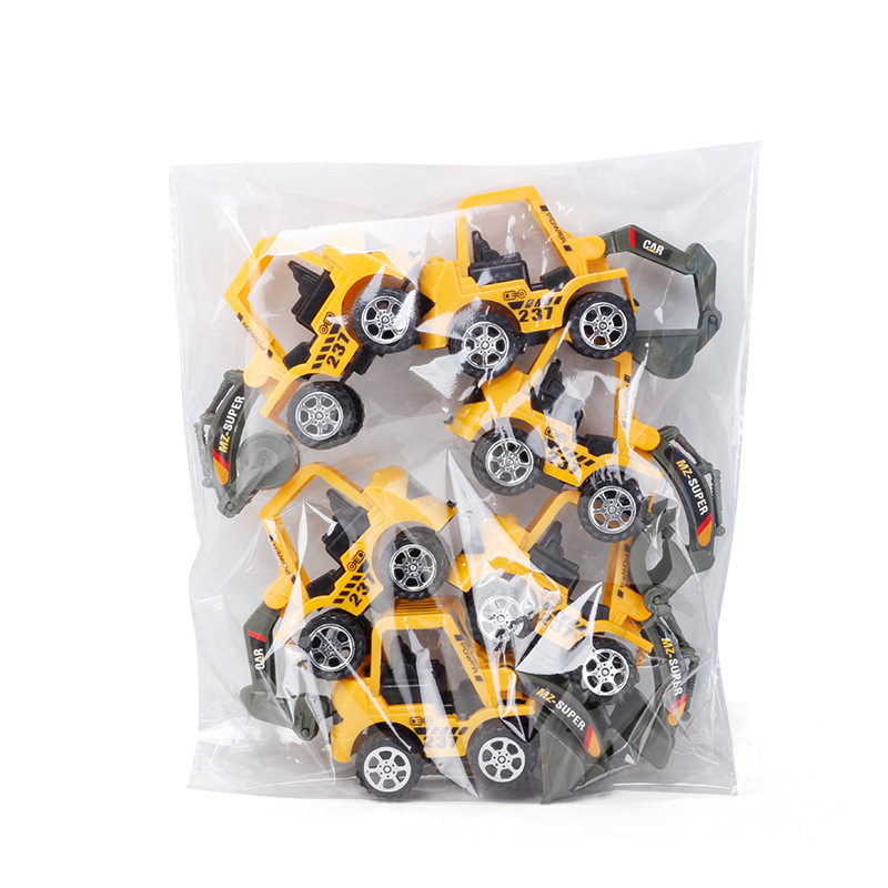 6 Styles /set Car toy Plastic Diecast Construction Engineering Vehicle Excavator Toys for boys Wholesale