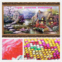 DIY 5D European Landscape Garden Lodge Diamond Painting Cross Stitch Kit In Home Decor Diamond Drill