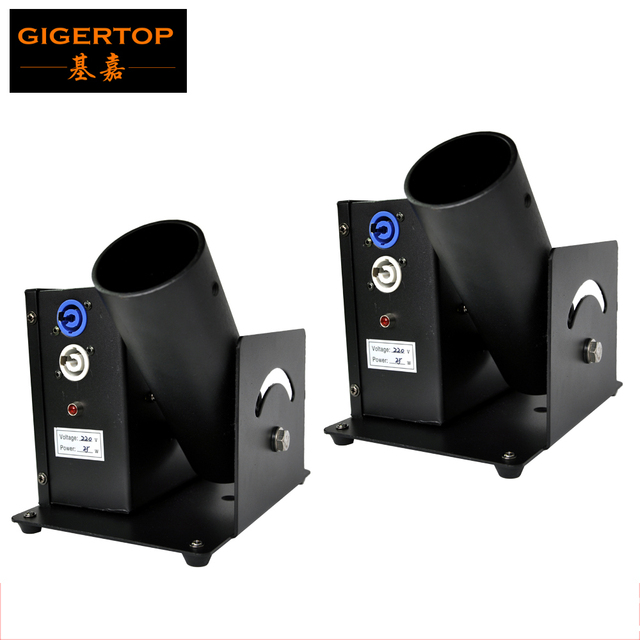 Freeshipping 2pcs/lot One Shot Confetti Machine Electrical DMX Control Stage Effect Machine TIPTOP Stage Lights 110V-240V