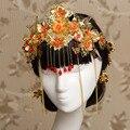 Головной убор костюм ретро свадебное платье для феникс корона Wo аксессуары китайский стиль одежды женщины hairband