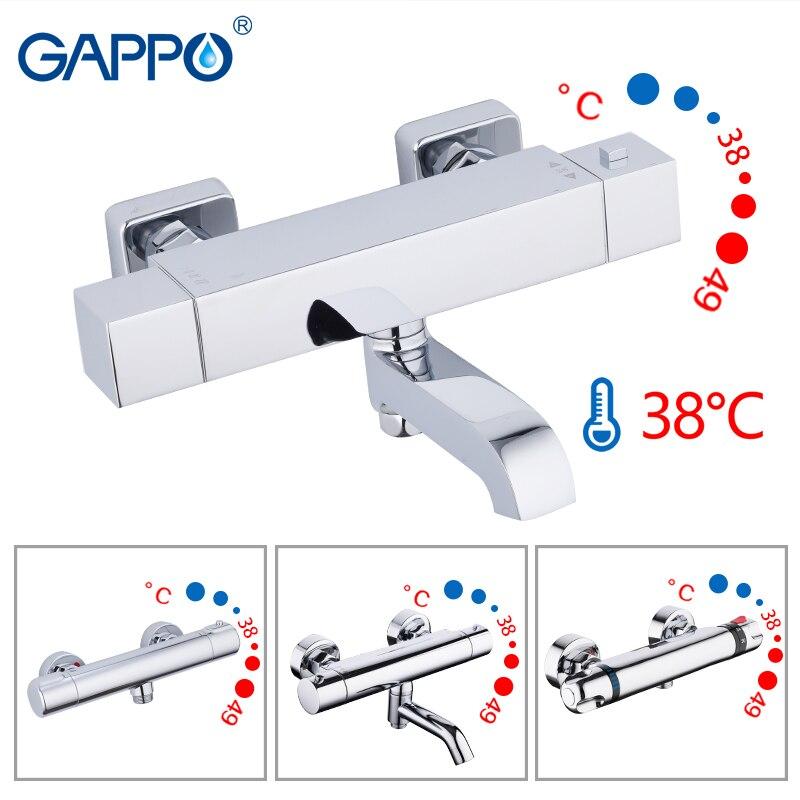 misturador do banho de chuveiro torneiras gappo com termostato do chuveiro montado na parede torneira da