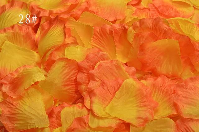 2000pcs lot orange yellow silk rose petals artificial flower for