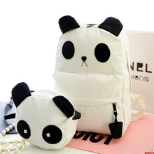 2PCS/set Panda pattern Animals Model Schoolbag Kids Backpack Children Gift For Boys Travel BookBag