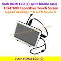 7 polegadas LCD HDMI 1024*600 Tela de Toque Capacitivo Suporta BB Black & Banana Pi Raspberry Pi/Pro & Vários Sistema