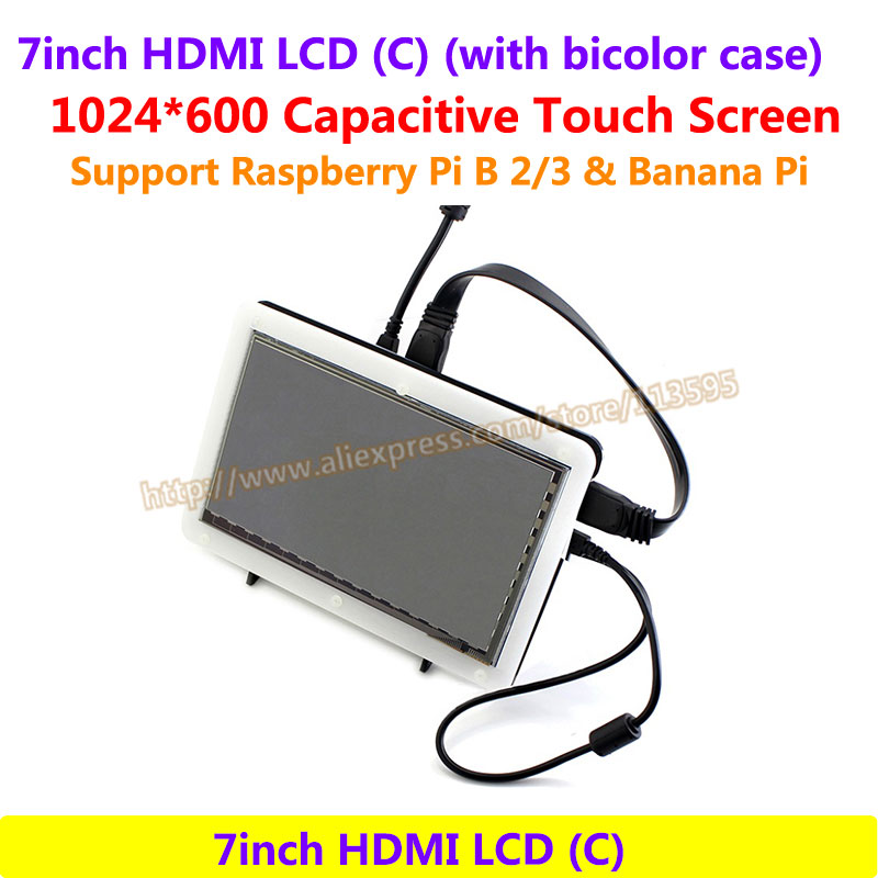все цены на 7inch HDMI LCD 1024*600 Capacitive Touch Screen Display Supports  Raspberry Pi BB Black &Banana Pi/Pro &Various System онлайн
