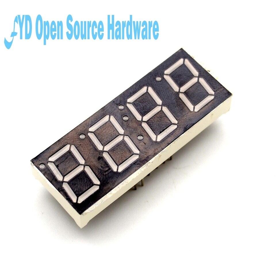 2 шт. общий анод 4bit 4 Бит Цифровой Tube 0.56 дюймов красный светодиод с часами Цифра 7 сегмента (часы)