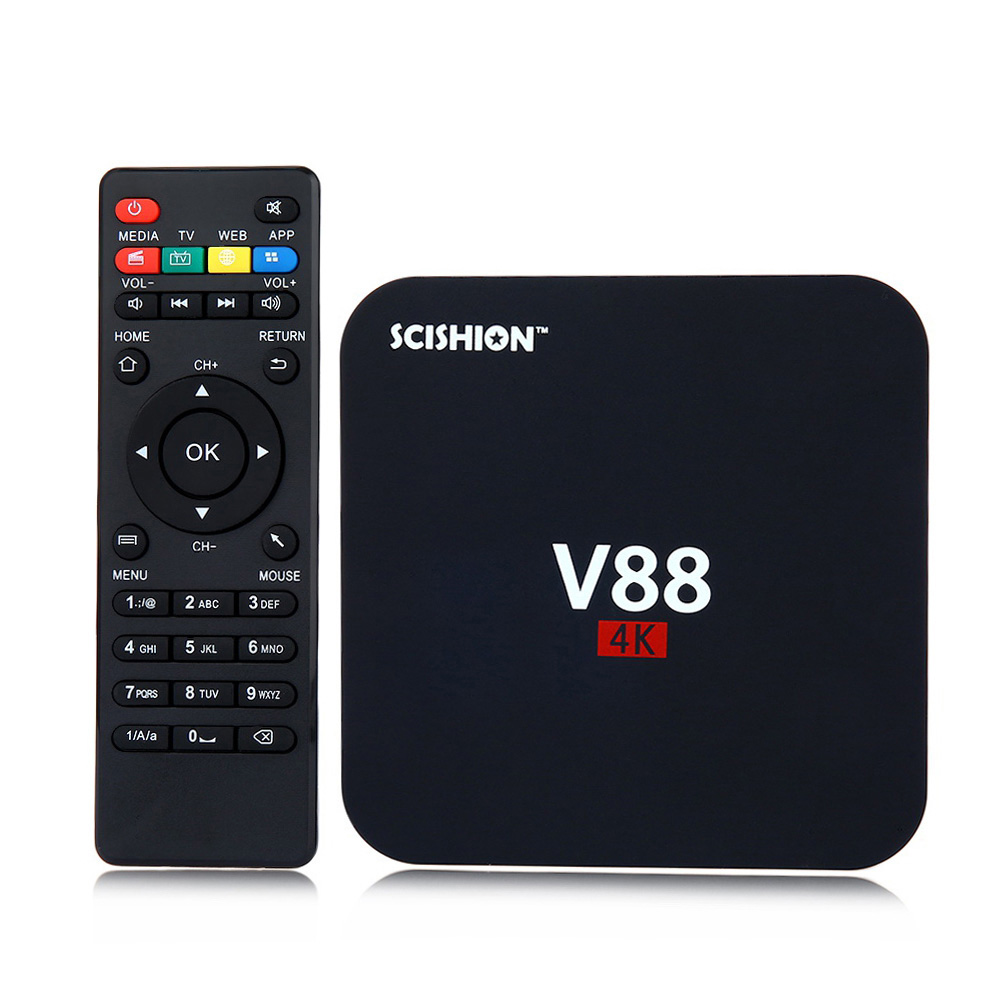 SCISHION V88 1GB 8GB Smart TV Box Android 5.1 1.5Hz Quad Core 4K H.265 8GB ROM Smart Media Player Set-top Boxes vs V88 Plus 1pc used eurotherm t140 channel digital input 8 euro