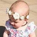 Новый 2016 Детские Цветок Корона для ребенка Аксессуары для волос Boho Цветок Корона оголовье для новорожденных Фото опора 1 шт.