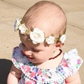 New 2016 Baby Flower Crown for baby hair Accessories Boho Flower Crown headband for newborn Photo prop 1 pc