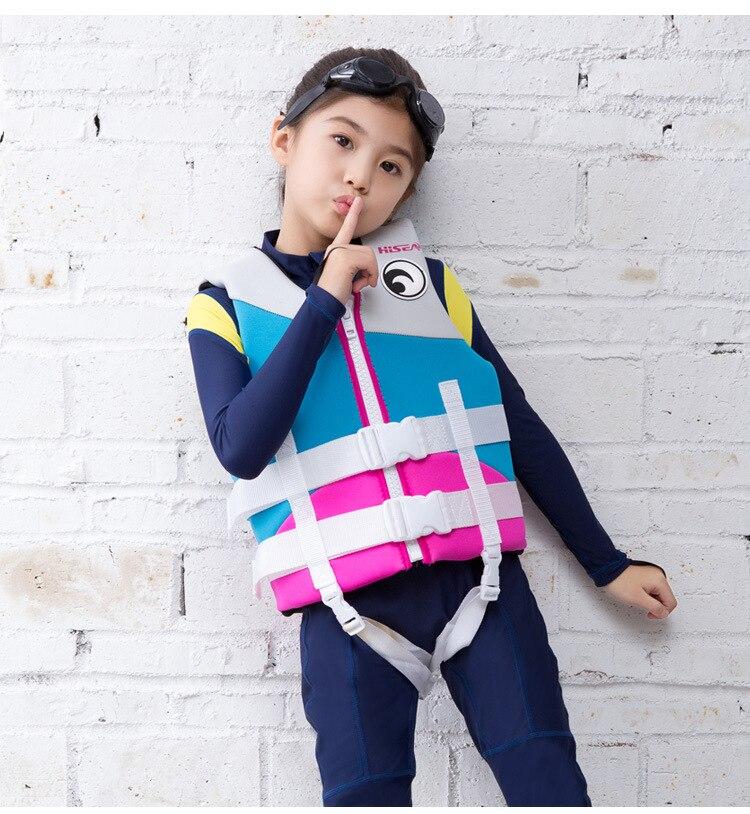 Neoprene crianças colete salva vidas jaqueta para