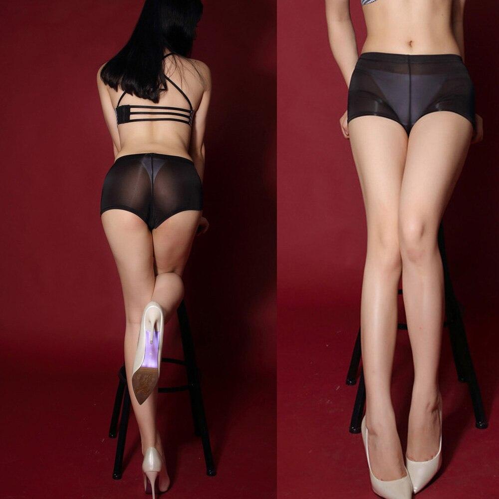 XL Plus Size Wetlook Thin Ice Silk Transparent Black Micro Sexy Short Pink Pole Dance Booty Shorts Women Hot Mini Short Clubwear