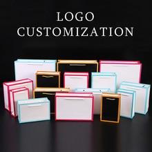 Высокое качество бумажный пакет с рамкой линии просите продавца MOQ для того чтобы настроить 1 цвет логотип для коммерчески подарочной ткани упаковки