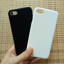 Sıcak satış siyah beyaz mat lastik sert plastik arka kapak çapa Funda Coque Hoesje Voor için iPhone 7 8 X durumda kapak