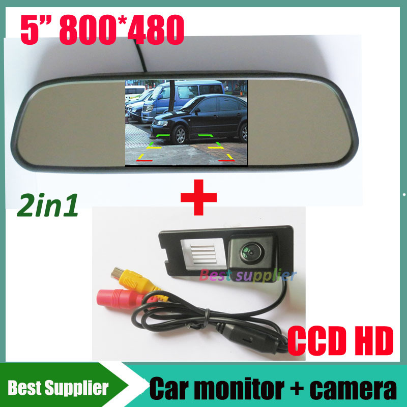 5inch car mirror monitor TFT LCD 800 480 for Renault Fluence Duster car backup rear