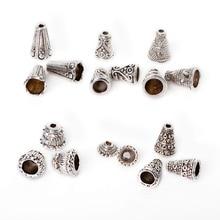 6 видов стилей 86 шт./пакет смешанные Торус из цинкового сплава покрытием серебряный шарик шапки для изготовления ювелирных изделий браслет цепочки и ожерелья DIY