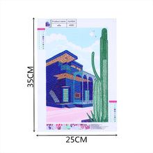 High Quality DIY Diamond Painting Embroidery Villa House Cross Crafts Stitch Home Wall Decors Landscape