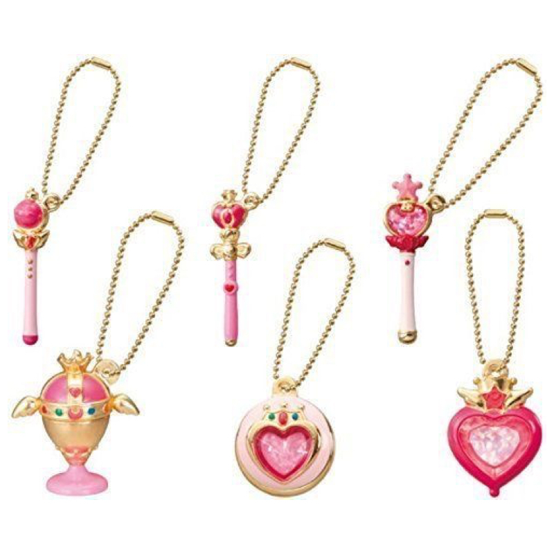 Sailor Moon Figure 20th Anniversary Die-cast Charms Gashapon Set Part 2 Rod Wand 100% Original sailor moon capsule communication instrument machine accessory gashapon figure anime toy full set 100