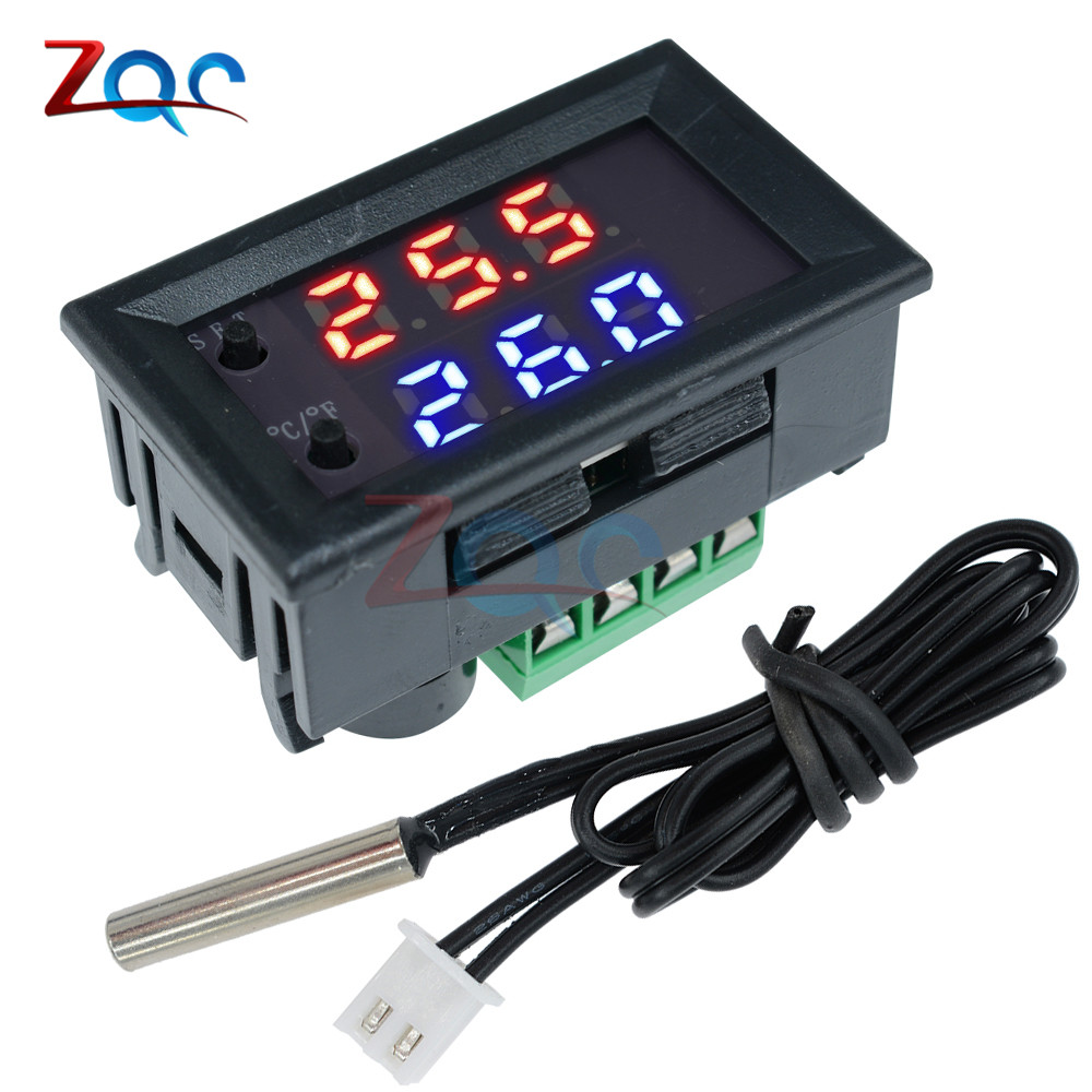 W1209WK W1209 WK W1219 DC 12V LED Digital Thermostat Temperature Control Thermometer Thermo Controller Switch Module +NTC Sensor 2