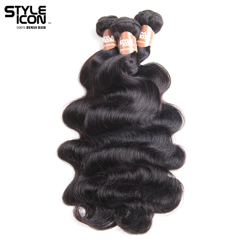 Styleicon Pre-colored Indian Body Wave 3 Bundles Human Hair Weave Bundles Deal NonRemy 3 Bundles Hair Extensions Free Shipping