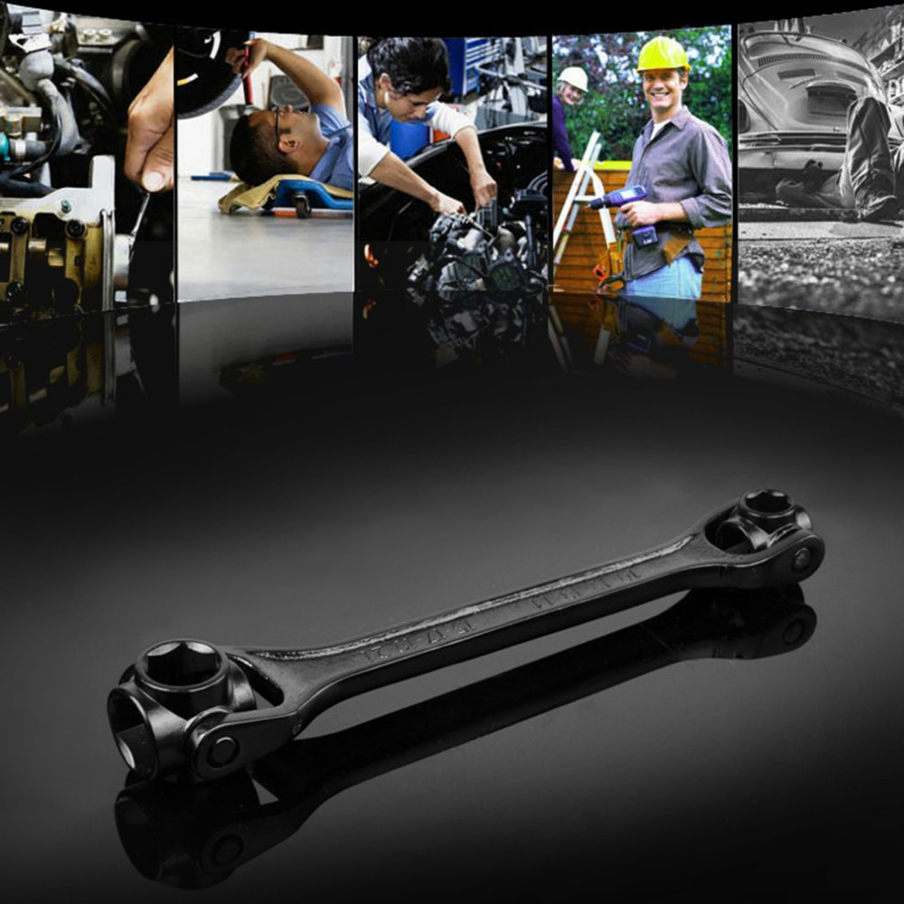 OUTAD 10mm-22mm Double Head Hexagon Socket Wrench with Metric System for Household Machine Repairing Construction Site Repairing