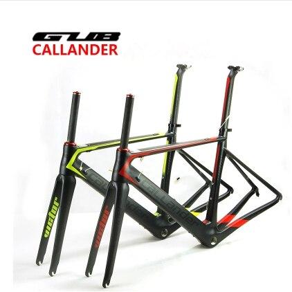 CALLANDER carbon road frame T700 frame matt finish Carbon fiber bicycle frame road bike frame+Fork+Clamp+Seatpost